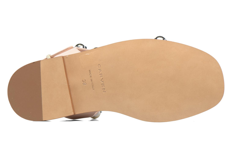 Sandali e scarpe aperte Carven Resonance Flat Beige immagine dall'alto
