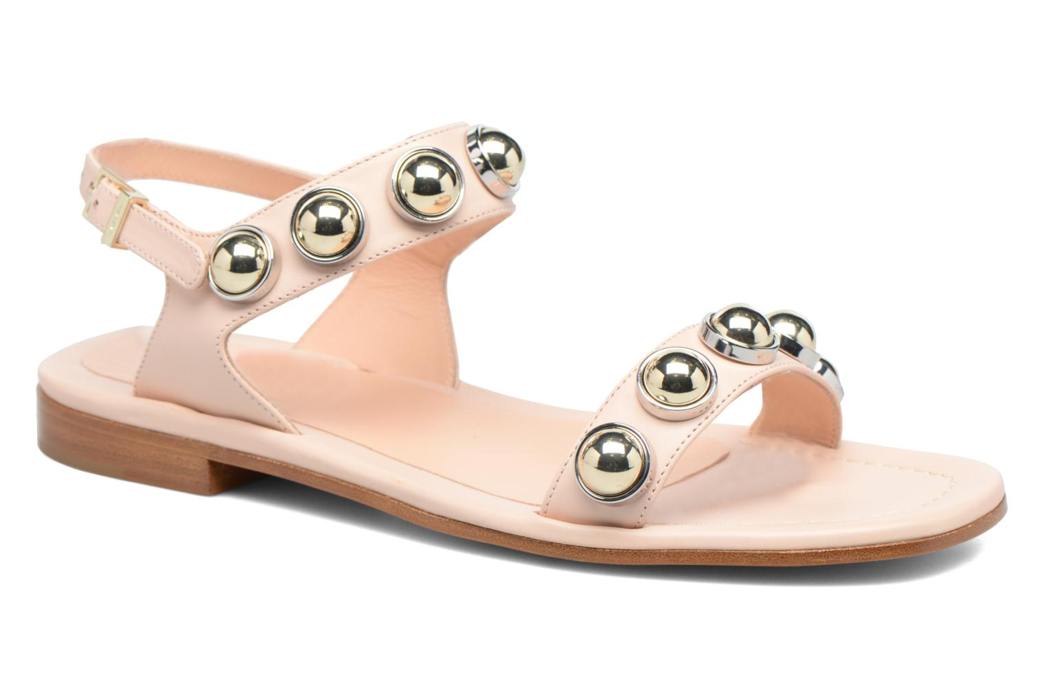 Sandals Carven Resonance Flat Beige detailed view/ Pair view