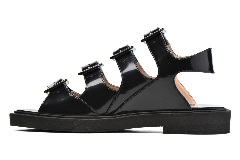 Sandalen Carven Heritage Buckle Sandal schwarz ansicht von vorne