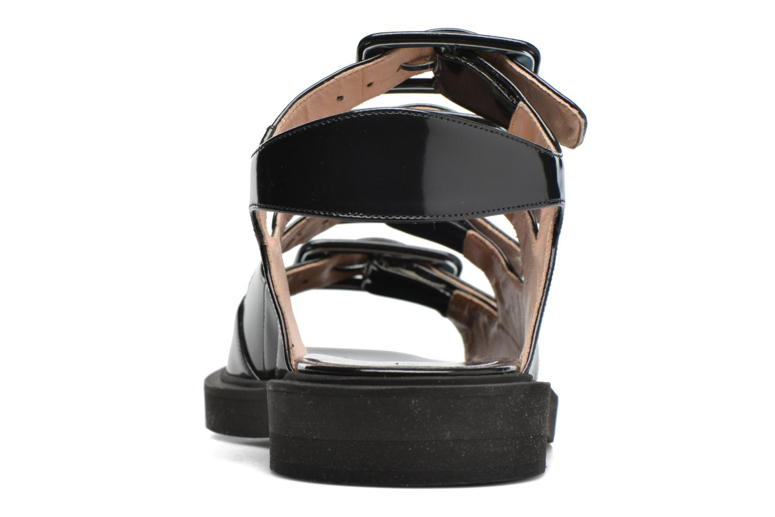 Sandals Carven Heritage Buckle Sandal Black view from the right