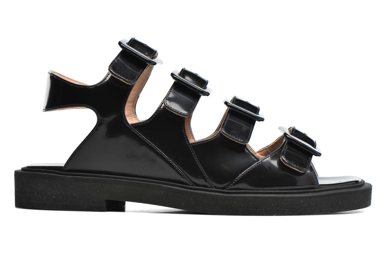 Sandalen Carven Heritage Buckle Sandal schwarz ansicht von hinten