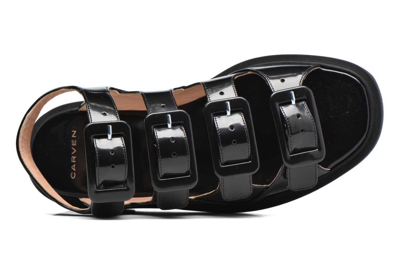 Sandalen Carven Heritage Buckle Sandal schwarz ansicht von links