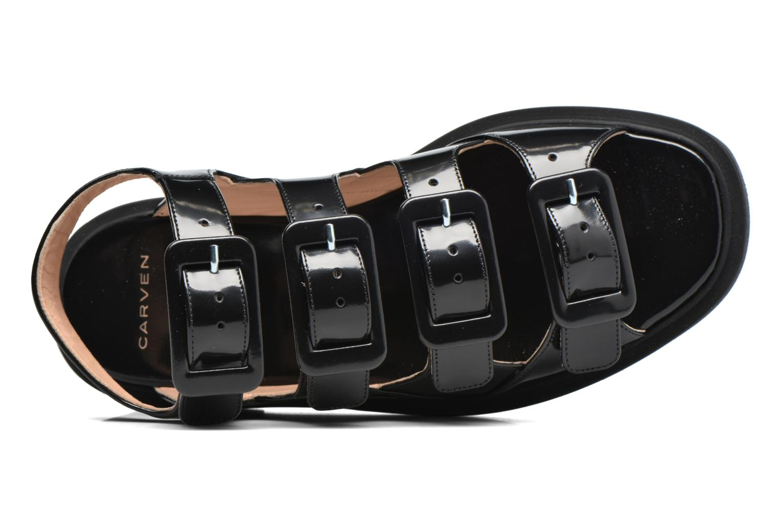 Sandals Carven Heritage Buckle Sandal Black view from the left