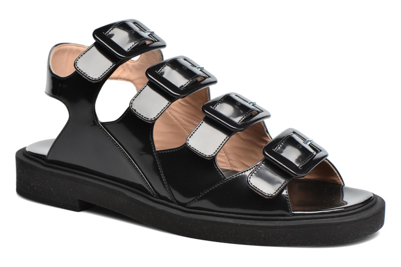 Sandalen Carven Heritage Buckle Sandal schwarz detaillierte ansicht/modell