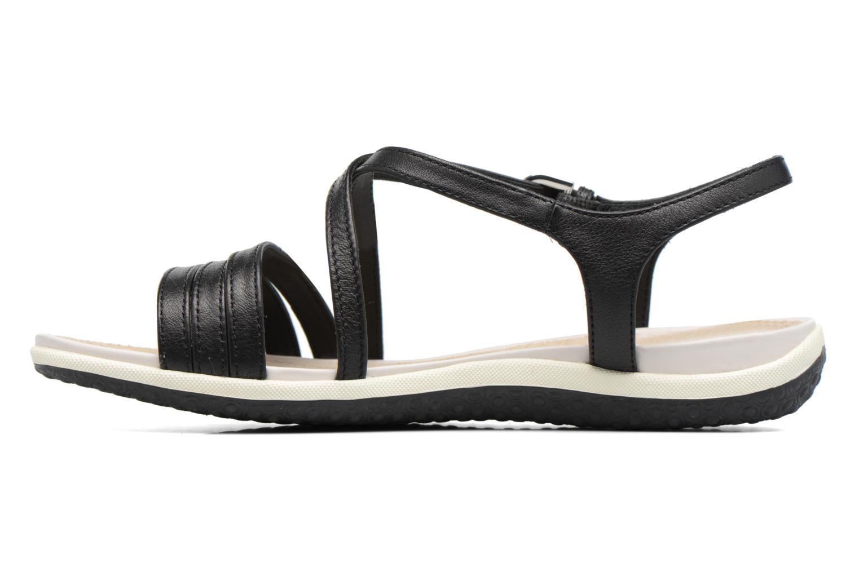 Sandales et nu-pieds Geox D SAND.VEGA C D62R6C Noir vue face