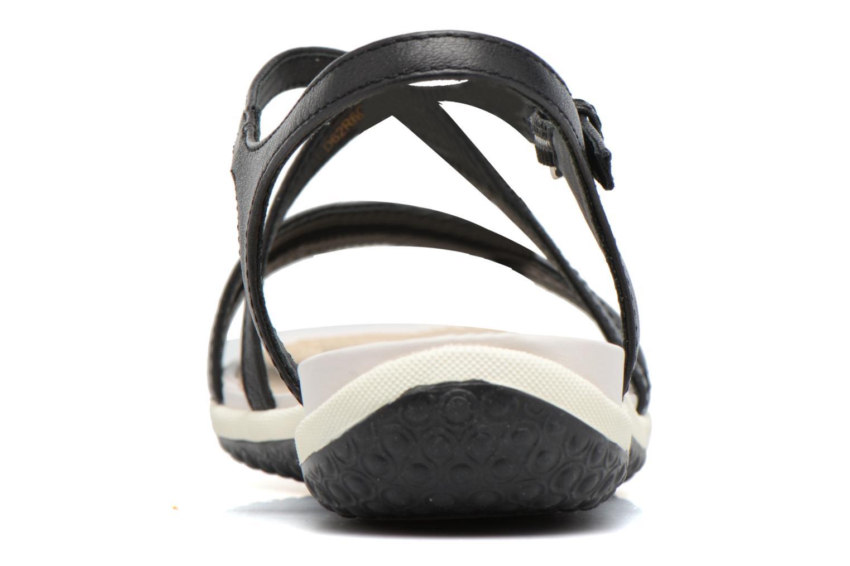 Sandales et nu-pieds Geox D SAND.VEGA C D62R6C Noir vue droite