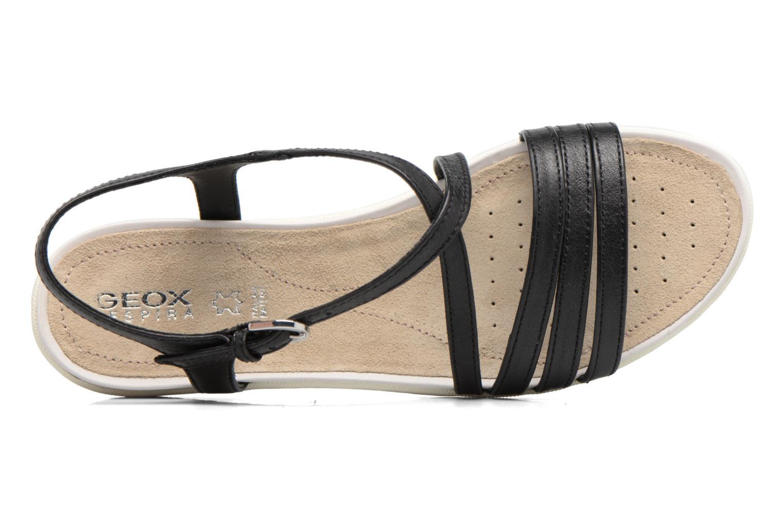Sandales et nu-pieds Geox D SAND.VEGA C D62R6C Noir vue gauche