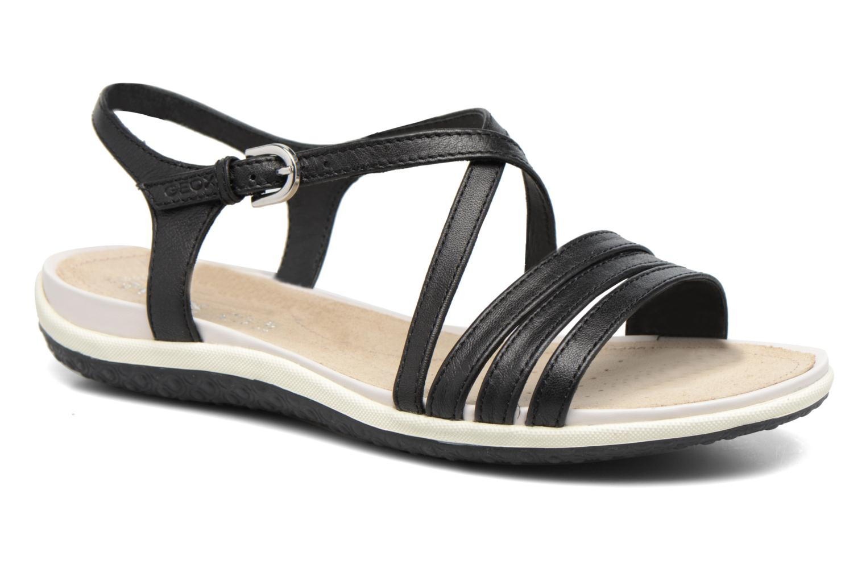 Sandaler Geox D SAND.VEGA C D62R6C Sort detaljeret billede af skoene