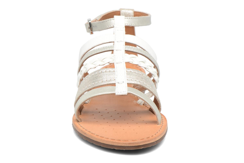Sandali e scarpe aperte Geox D SOZY E D722CE Argento modello indossato