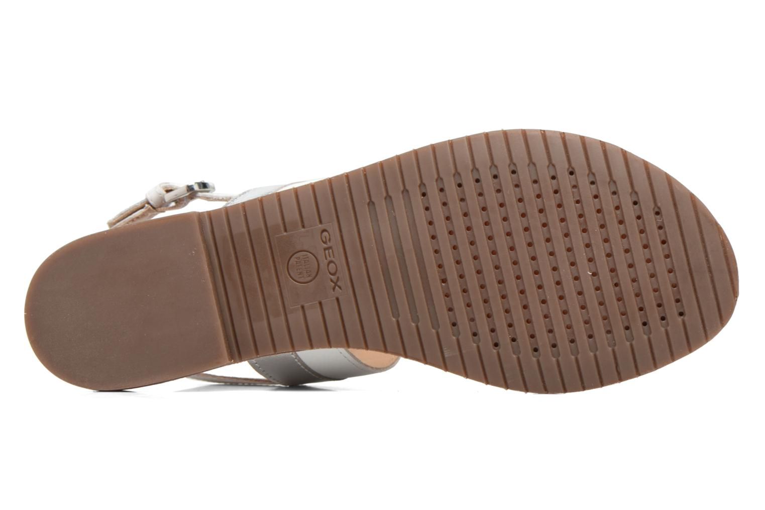 Sandals Geox D SOZY F D722CF White view from above
