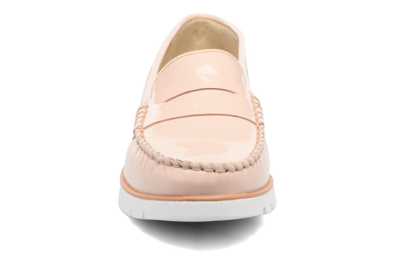 Mocassins Geox D KOOKEAN F D724PF Rose vue portées chaussures