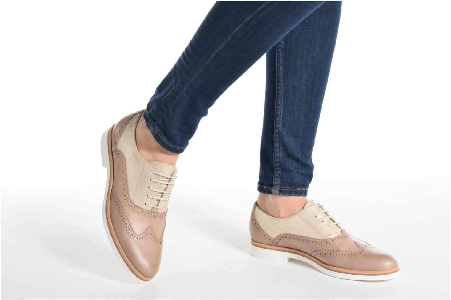 Lace-up shoes Geox D JANALEE G D725AG Bronze and Gold view from underneath / model view