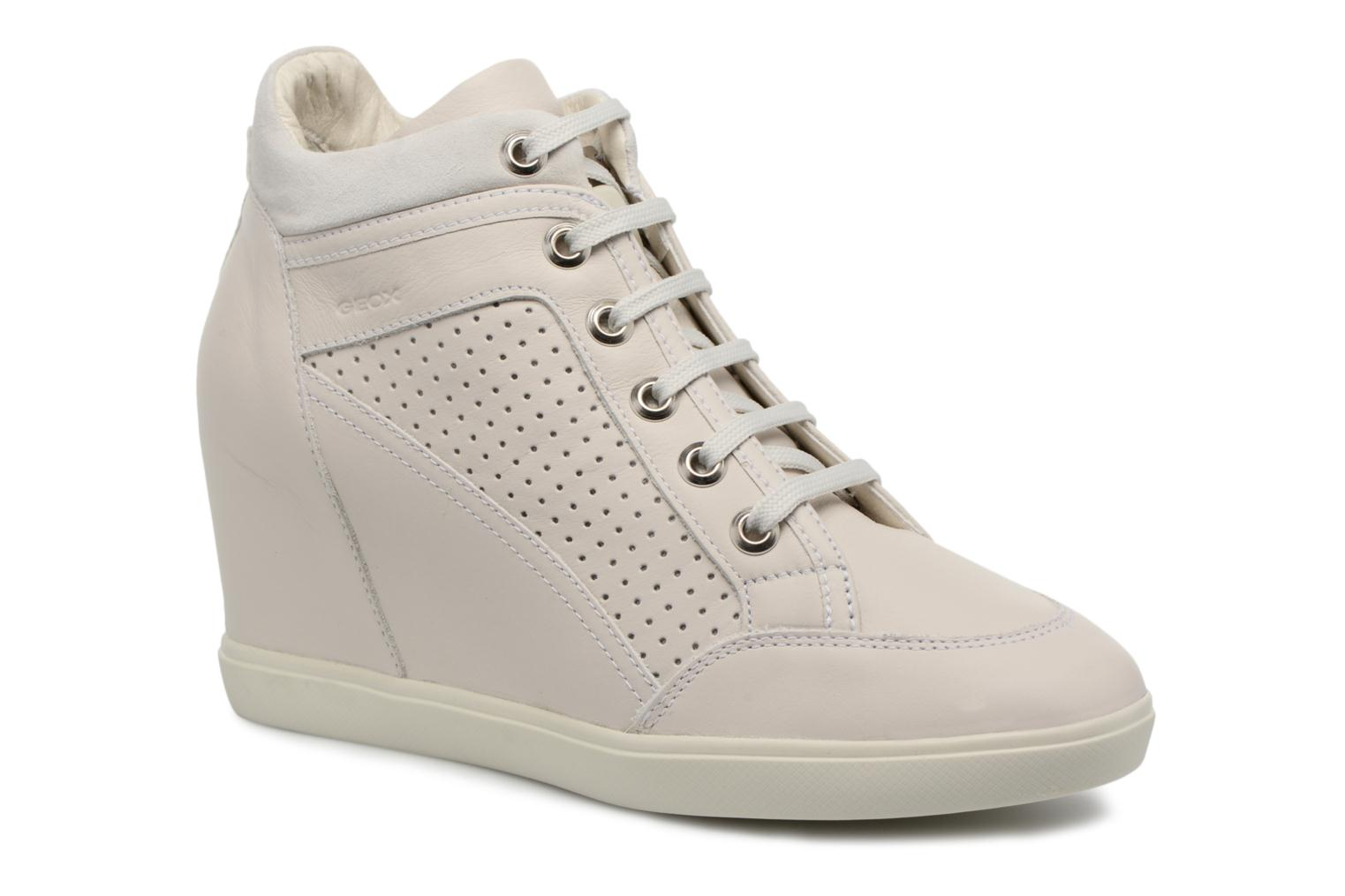 Trainers Geox D ELENI C D7267C Beige detailed view/ Pair view