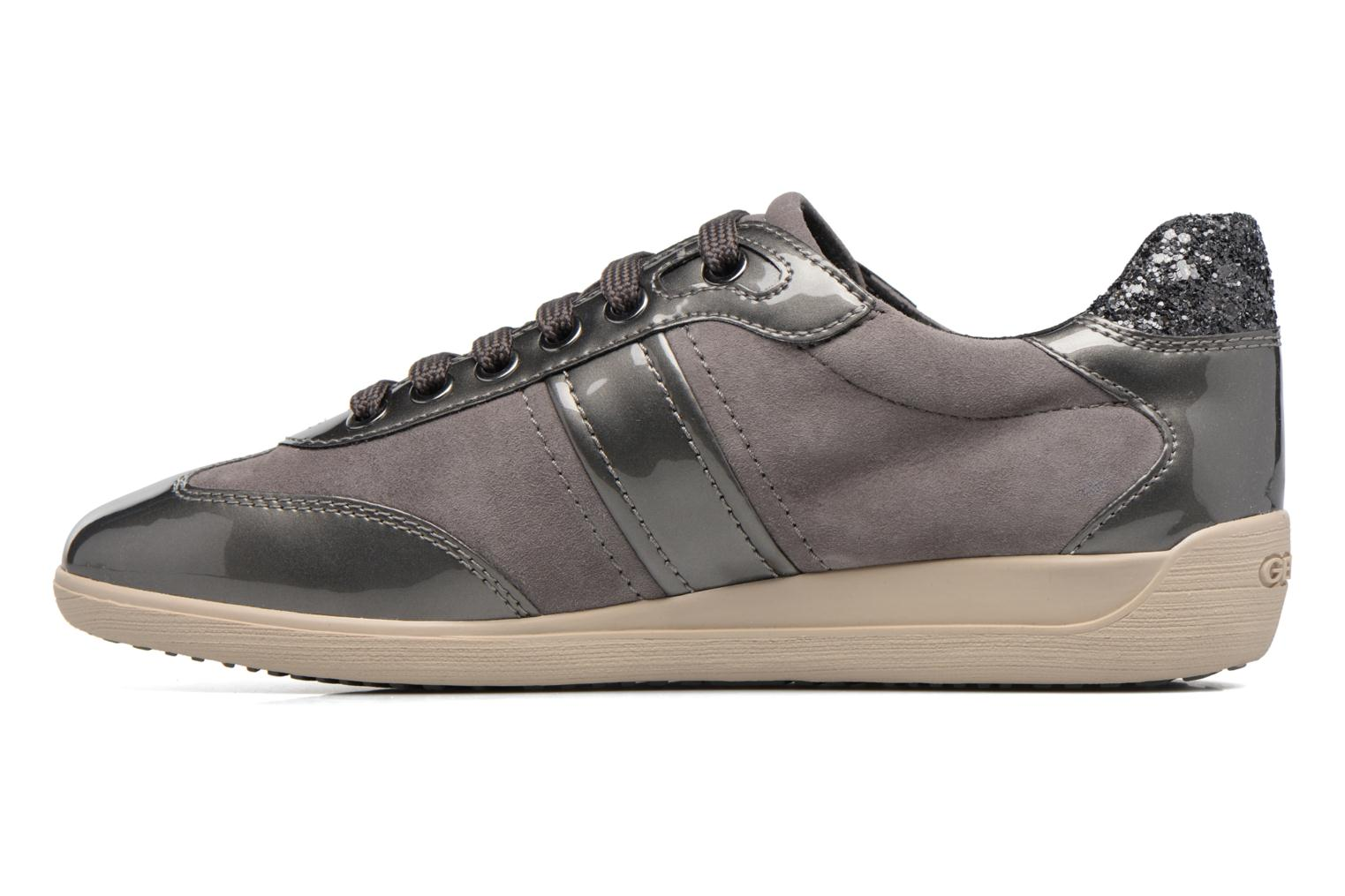 Trainers Geox D MYRIA A D7268A Grey front view