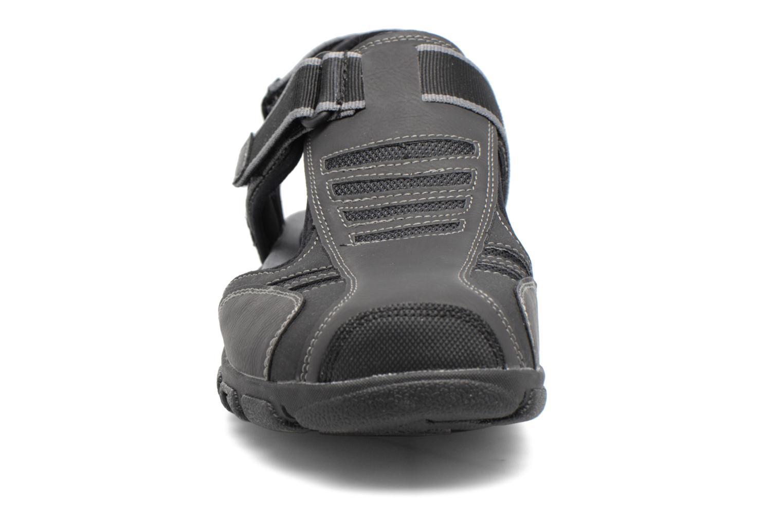 Sandales et nu-pieds Geox U S.STRADA A U7224A Noir vue portées chaussures