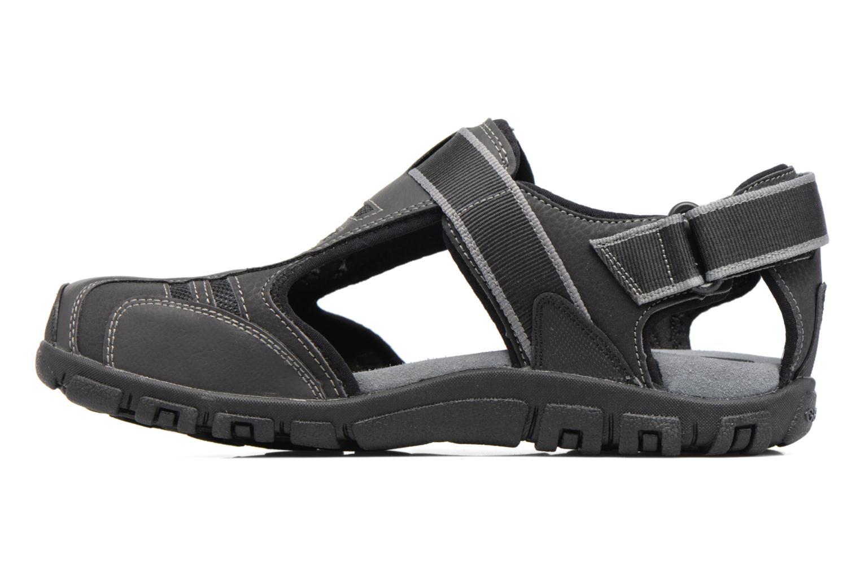 Sandales et nu-pieds Geox U S.STRADA A U7224A Noir vue face