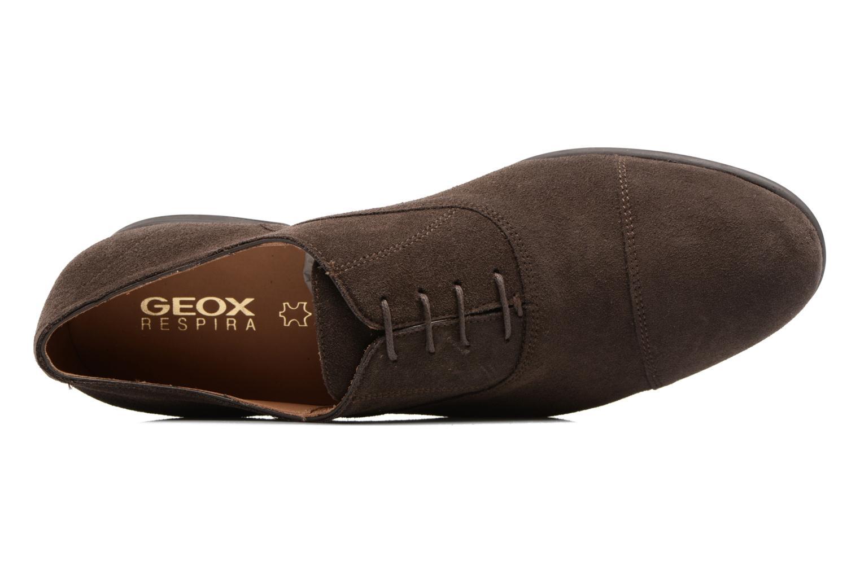 Chaussures à lacets Geox U WILBURG B U722SB Marron vue gauche