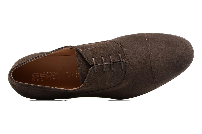 Chaussures à lacets Geox U WILBURG B U722SB Marron vue haut