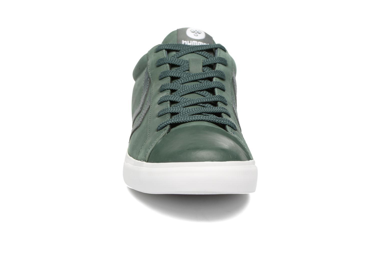 Baskets Hummel Baseline Court Vert vue portées chaussures
