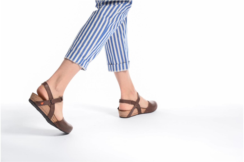 Sandales et nu-pieds Art Pompei 739 Marron vue bas / vue portée sac