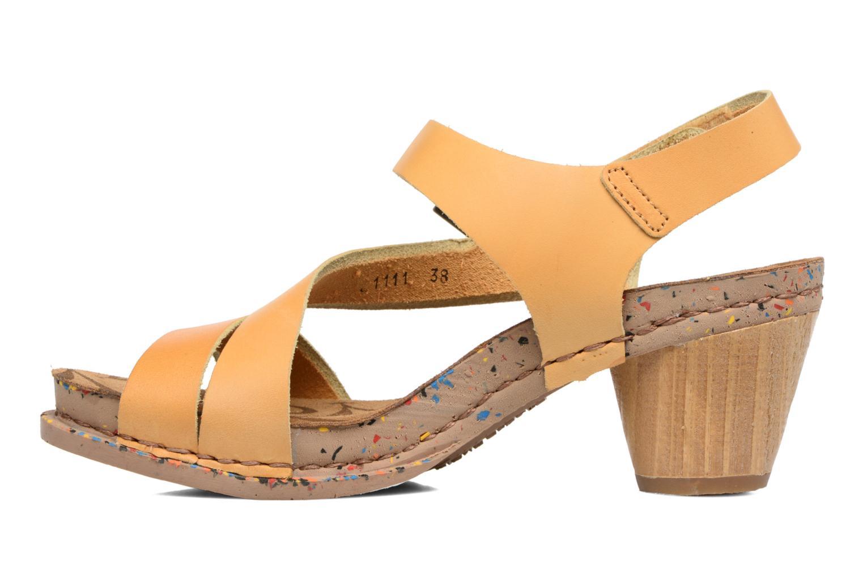 Sandales et nu-pieds Art I Laugh 1111 Jaune vue face