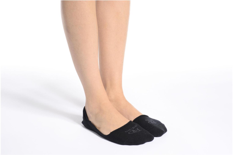 Chaussettes et collants Doré Doré Chaussettes invisibles Mixte Laine Noir vue haut