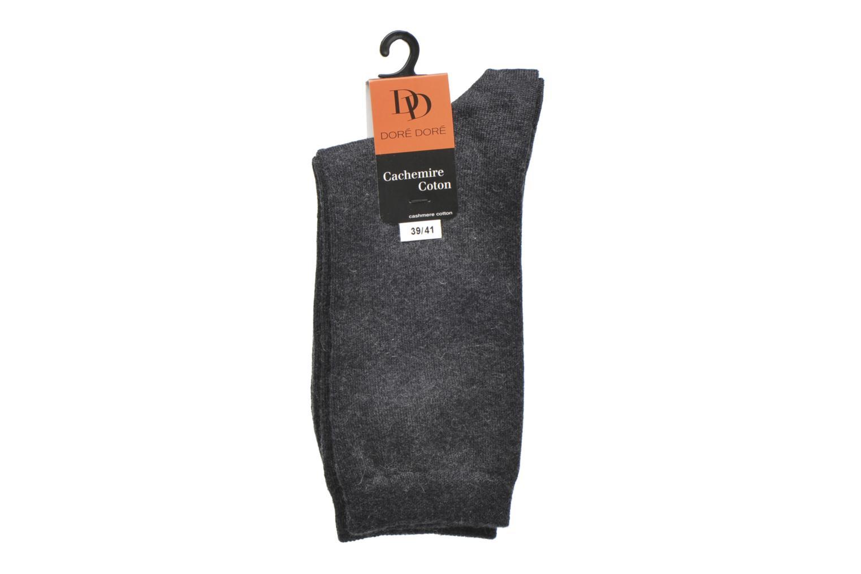 Chaussettes et collants Doré Doré Chaussettes Femme Coton Basique Gris vue derrière
