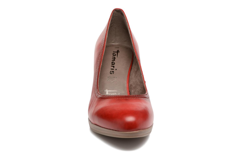 Escarpins Tamaris Fuchsia Rouge vue portées chaussures