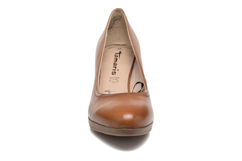 Escarpins Tamaris Fuchsia Beige vue portées chaussures
