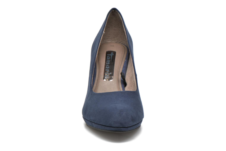 Escarpins Tamaris Hellébore Bleu vue portées chaussures