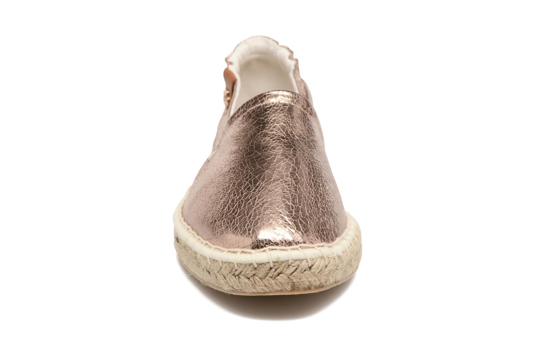 Espadrilles Tamaris Camélia Or et bronze vue portées chaussures