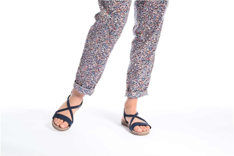 Sandales et nu-pieds Tamaris Mélisse Noir vue bas / vue portée sac