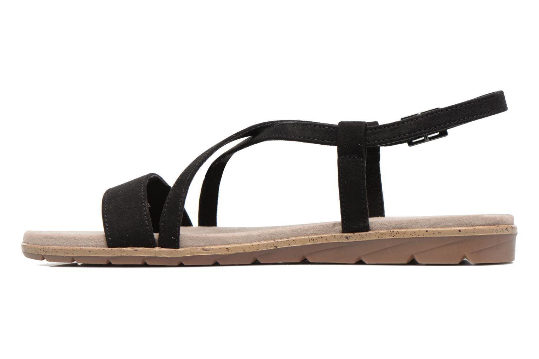 Sandales et nu-pieds Tamaris Mélisse Noir vue face
