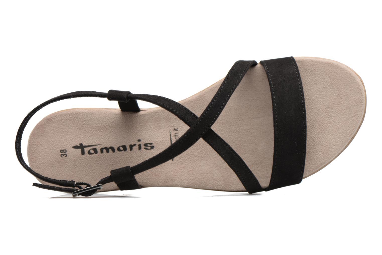 Sandales et nu-pieds Tamaris Mélisse Noir vue gauche