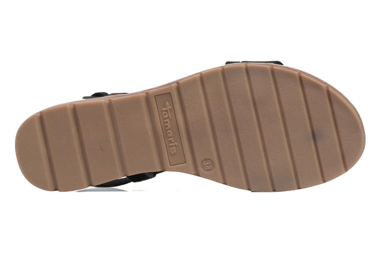 Sandales et nu-pieds Tamaris Mélisse Noir vue haut