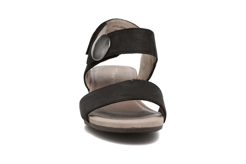 Sandales et nu-pieds Tamaris Tulia Noir vue portées chaussures