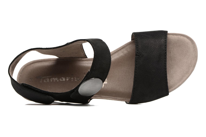 Sandales et nu-pieds Tamaris Tulia Noir vue gauche