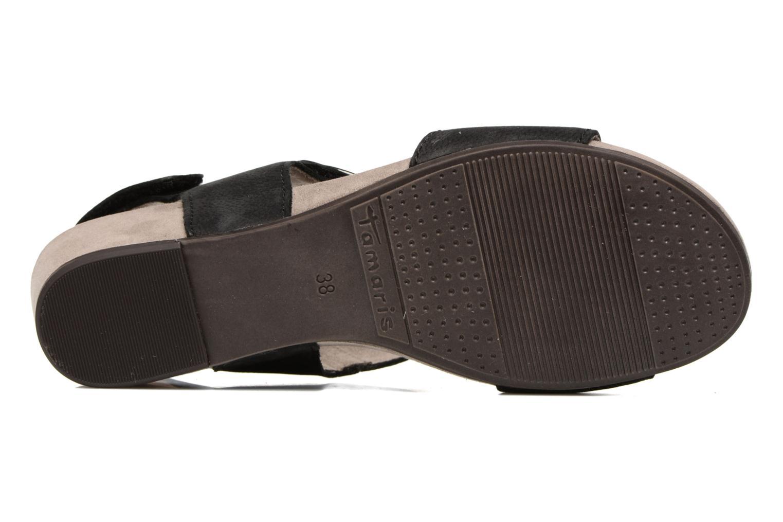 Sandales et nu-pieds Tamaris Tulia Noir vue haut