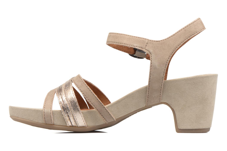 Sandales et nu-pieds Tamaris Euphorbe Beige vue face