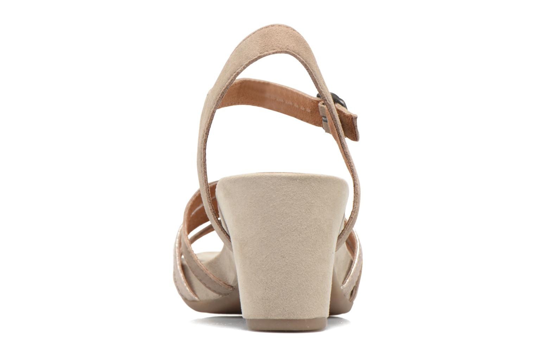 Sandales et nu-pieds Tamaris Euphorbe Beige vue droite