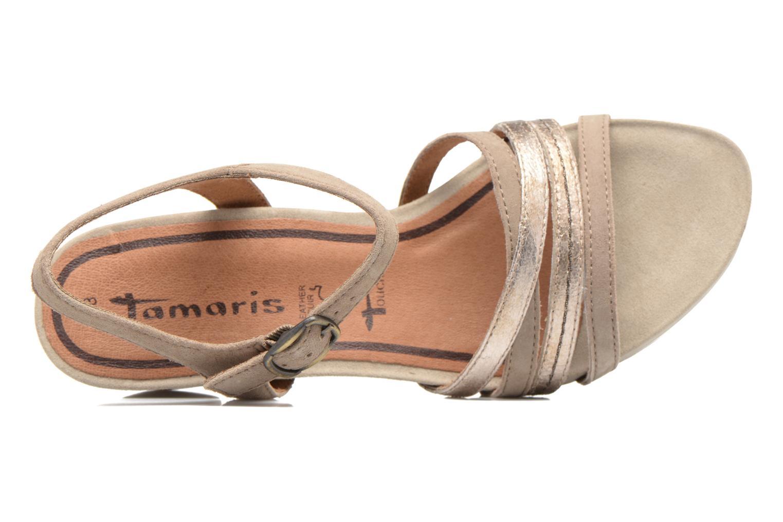 Sandales et nu-pieds Tamaris Euphorbe Beige vue gauche