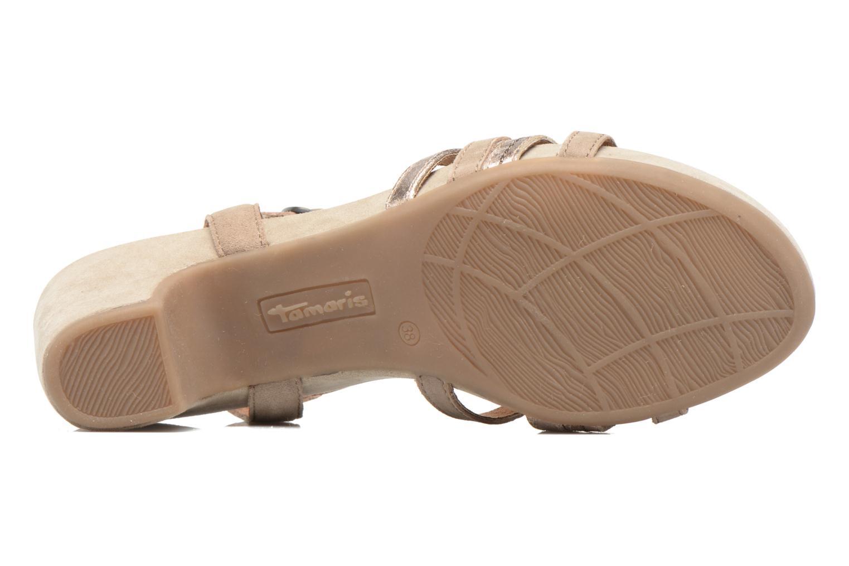 Sandales et nu-pieds Tamaris Euphorbe Beige vue haut