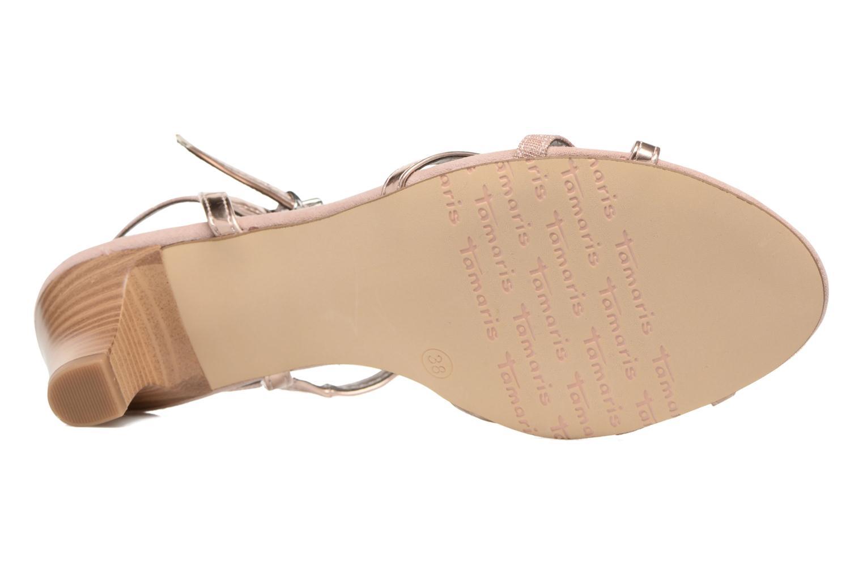 Sandales et nu-pieds Tamaris Carline Rose vue haut