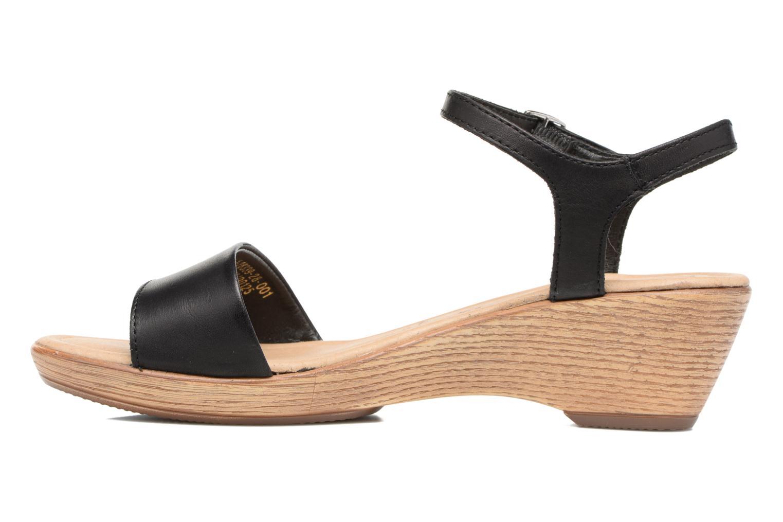 Sandales et nu-pieds Tamaris Balsa Noir vue face