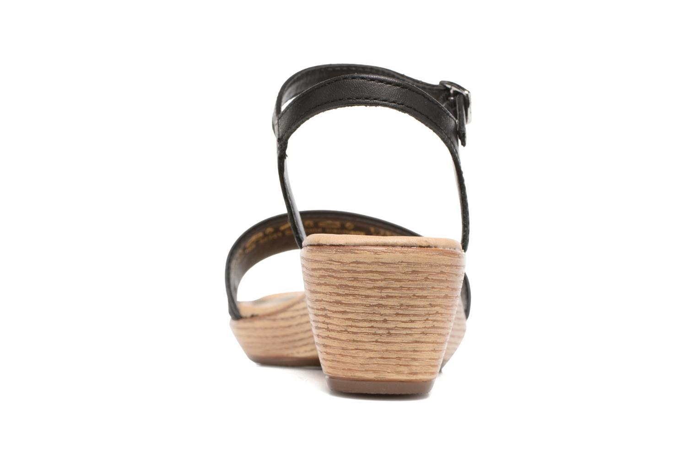Sandales et nu-pieds Tamaris Balsa Noir vue droite
