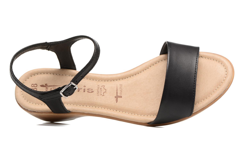 Sandales et nu-pieds Tamaris Balsa Noir vue gauche