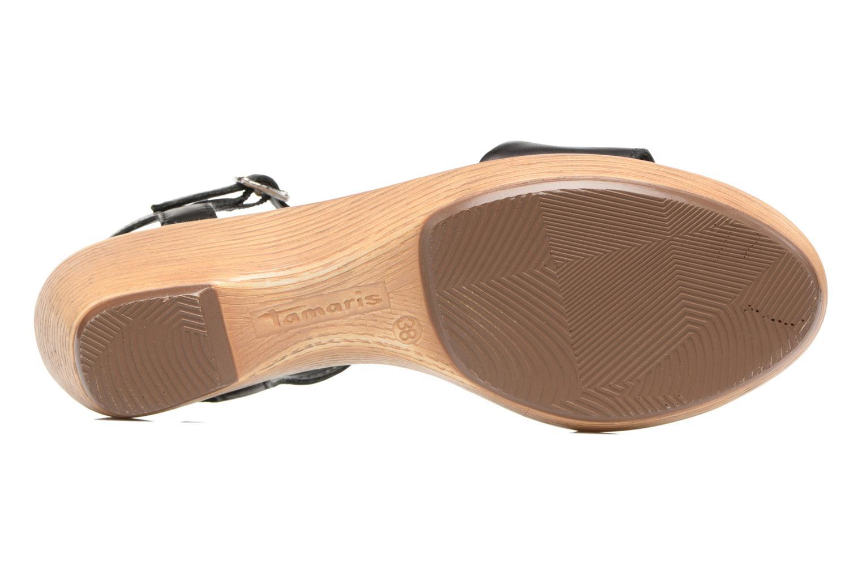 Sandales et nu-pieds Tamaris Balsa Noir vue haut