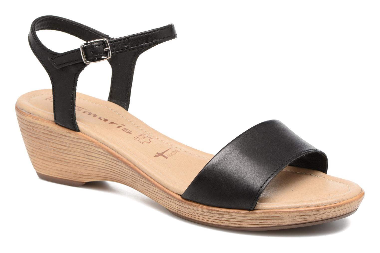 Sandales et nu-pieds Tamaris Balsa Noir vue détail/paire