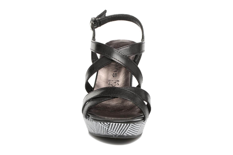 Sandales et nu-pieds Tamaris Azalée Noir vue portées chaussures