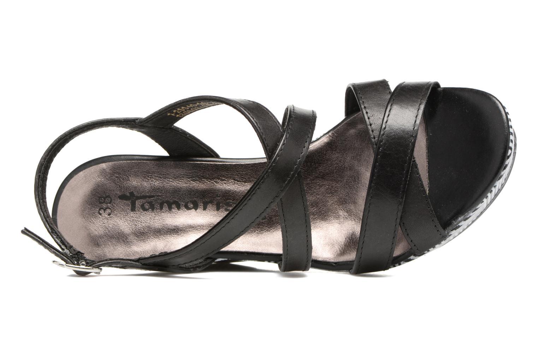Sandales et nu-pieds Tamaris Azalée Noir vue gauche